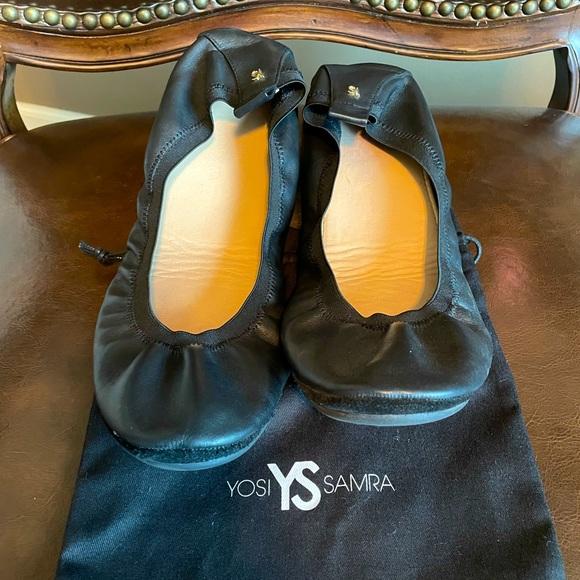 Yosi Samra Leather Ballet Flats - Like New